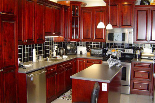 Red Cherry Kitchen Cabinets - zitzat.com