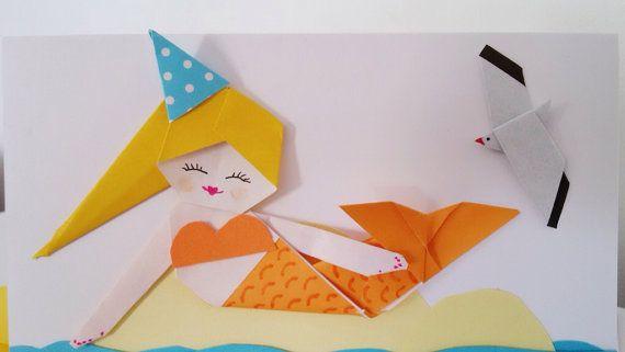 Handmade Mermaid Birthday Card Origami Paper Mermaid 3d Card Video