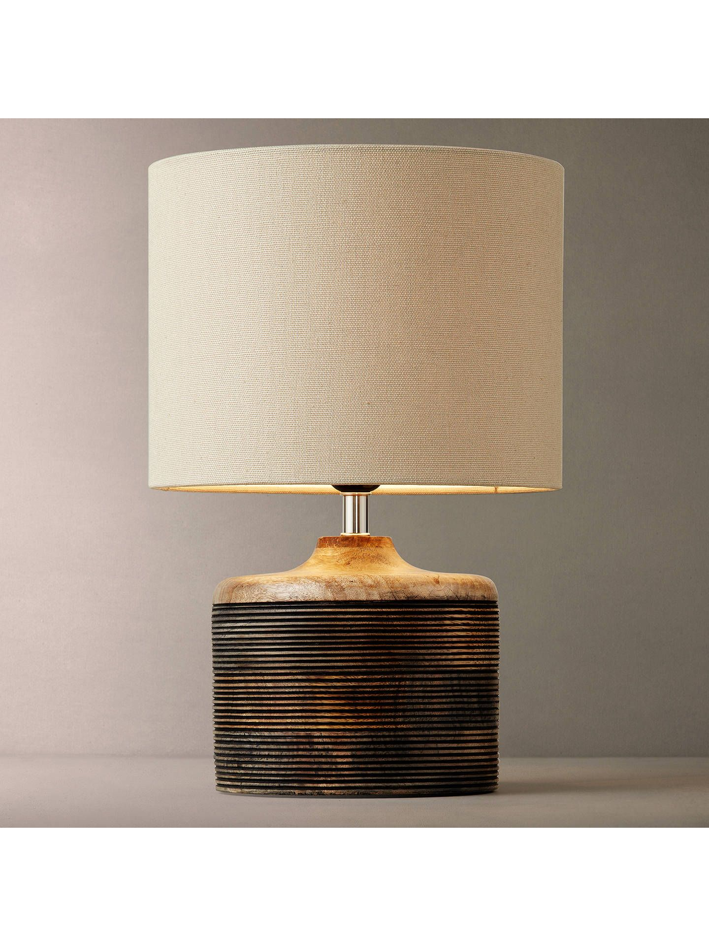John Lewis Partners Ira Ribbed Wooden Table Lamp
