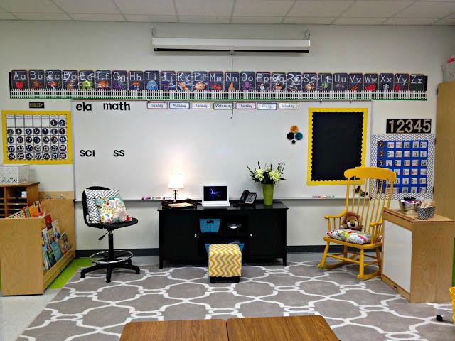 Yellow Classroom Decor : Classroom tour 2013 2014 organizations decoration and classroom