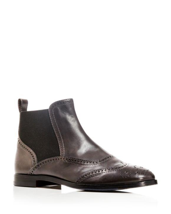 AGL Attilio Giusti Leombruni Dress Wingtip Flat Booties - 100% Bloomingdale's Exclusive | Bloomingdales's
