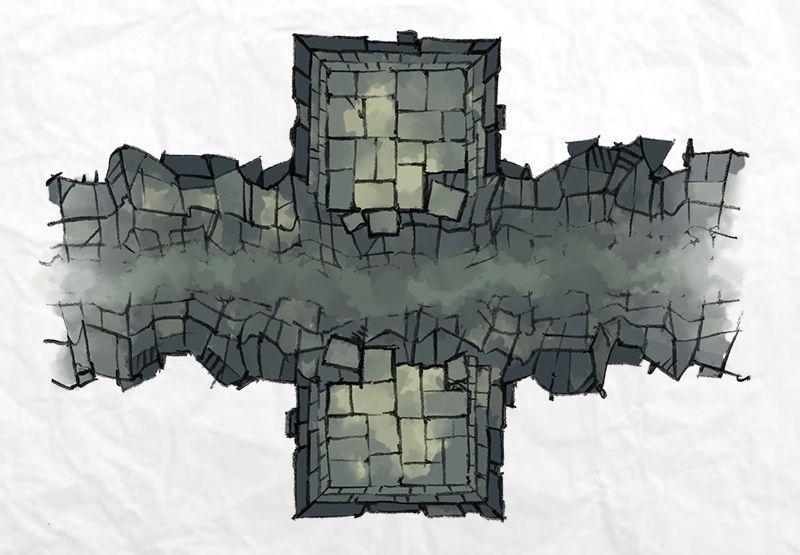 Dungeon Chasm Dungeons, dragons art, Dungeon maps