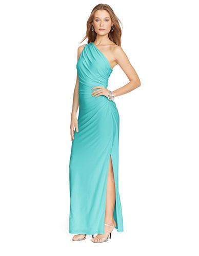 Brands Formalevening One Shoulder Brooch Gown Lord And Taylor