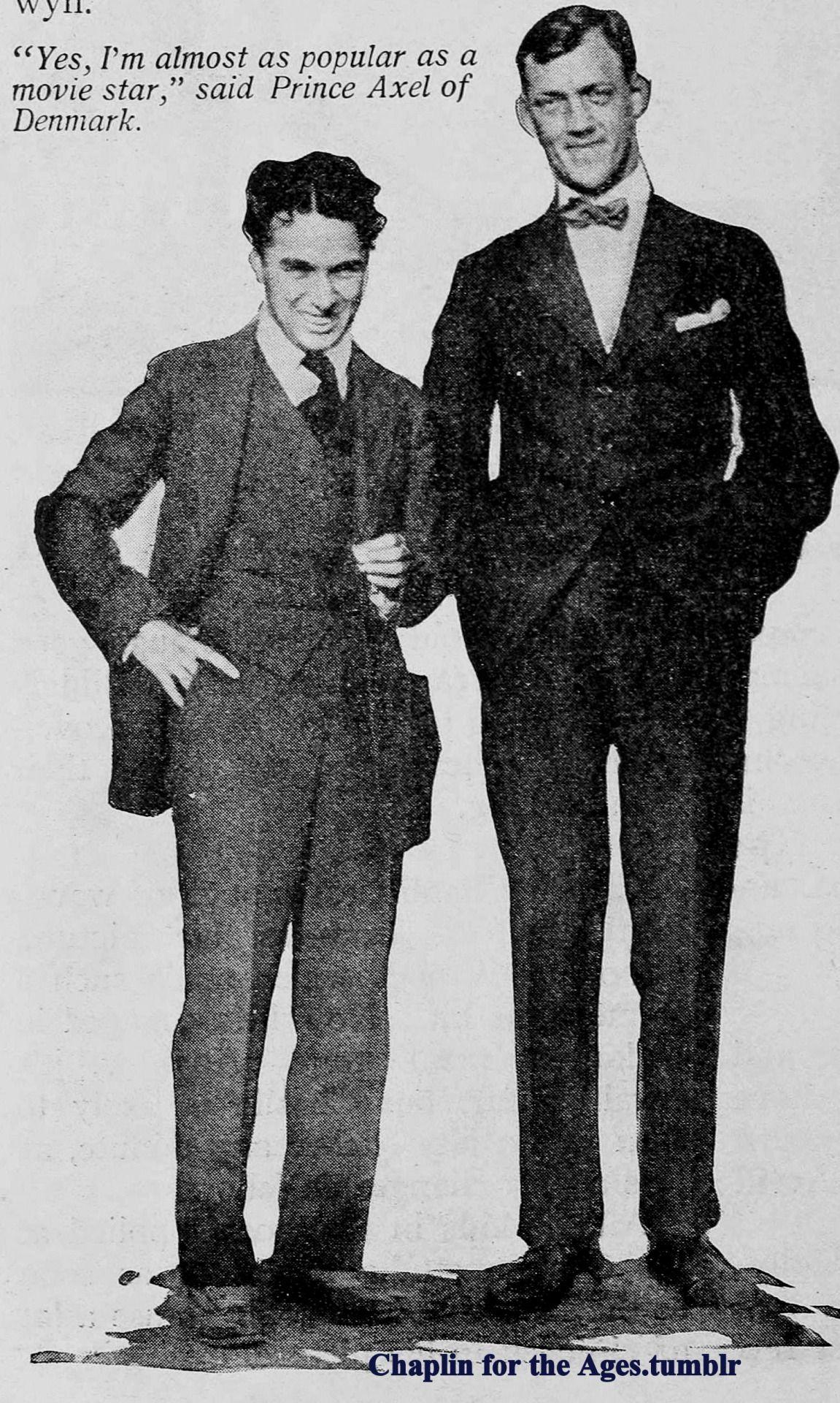 Charlie Chaplin And Prince Axel Of Denmark Prince Axel Had