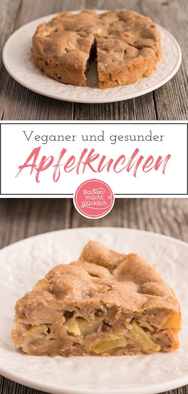 Apfelkuchen ohne Zucker, Butter, Ei | Backen macht glücklich #easypierecipes