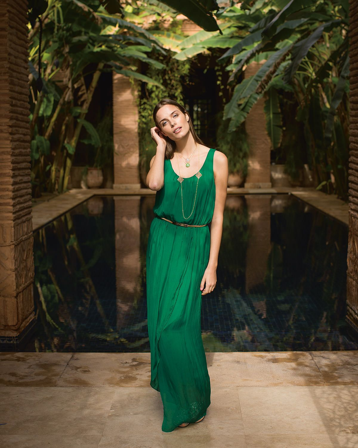 f98a906a14 Phase Eight Elsa Silk Maxi Dress Green | Jenny's Wedding | Dresses ...