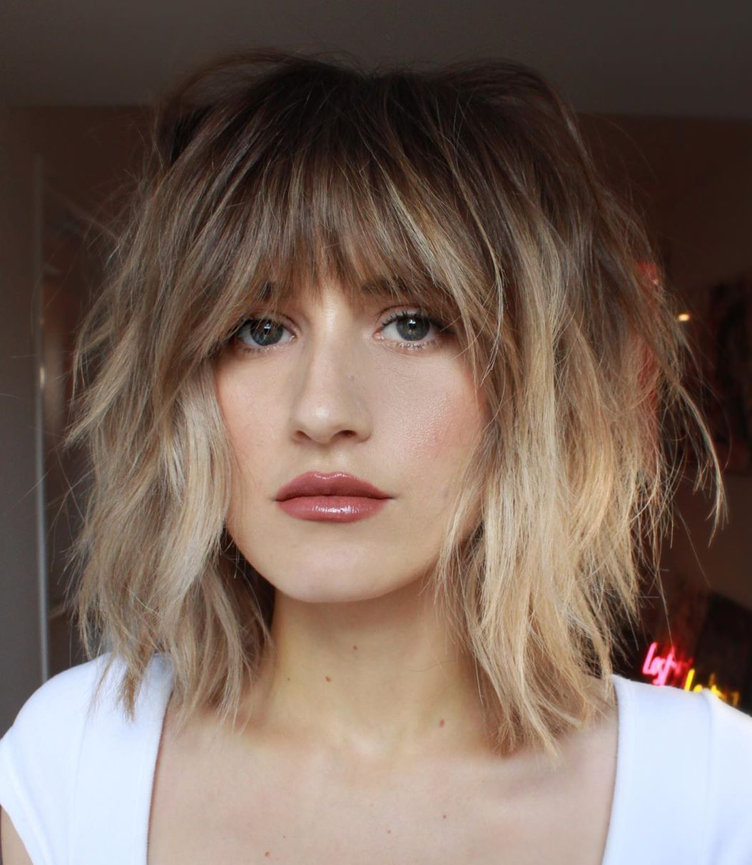 50 Most Trendy And Flattering Bangs For Round Faces In 2021 Hadviser Bangs For Round Face Round Face Haircuts Hairstyles With Bangs