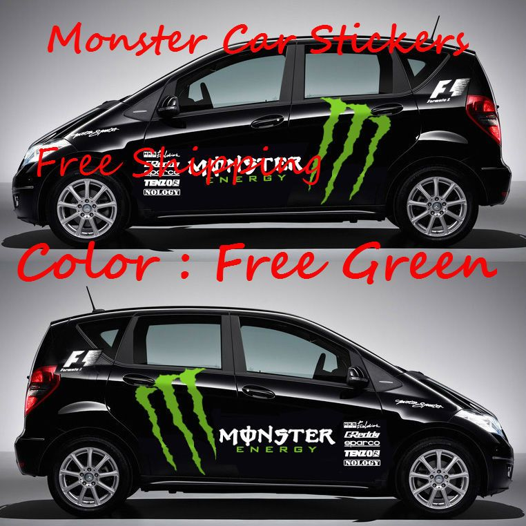 Set Wholesale Drop Shipping New Styling Reflective Mon Ster Cool - Cool decal stickers for cars