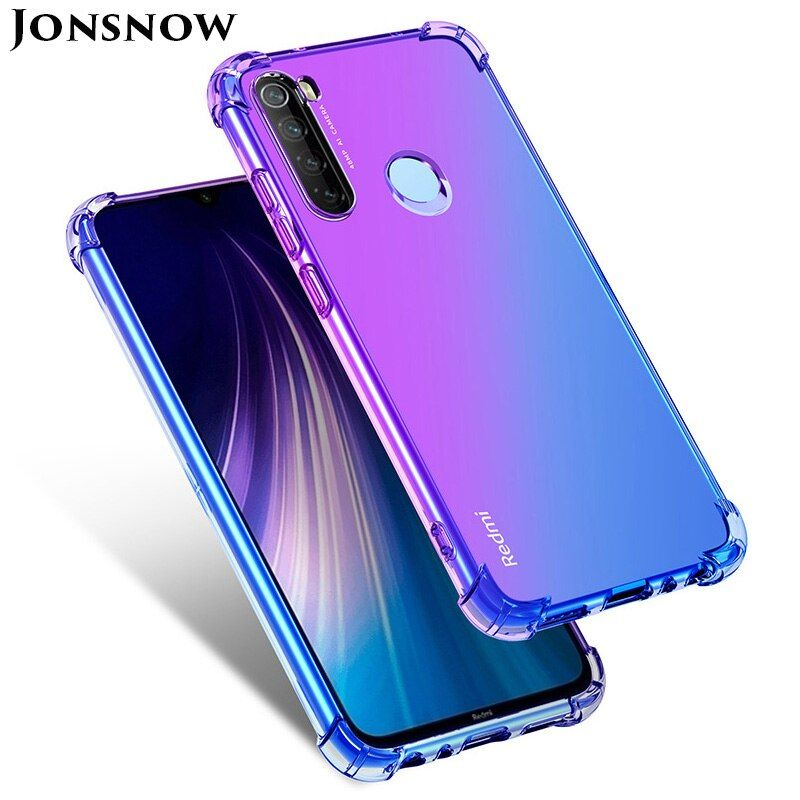 Silicone Gradient Soft Case For Xiaomi Redmi Note 8t Note 8 Pro Shockproof Cover For Mi 10 Mi 9 Lite Cc9 Phone Case Cover Girly Phone Cases Branded Phone Cases