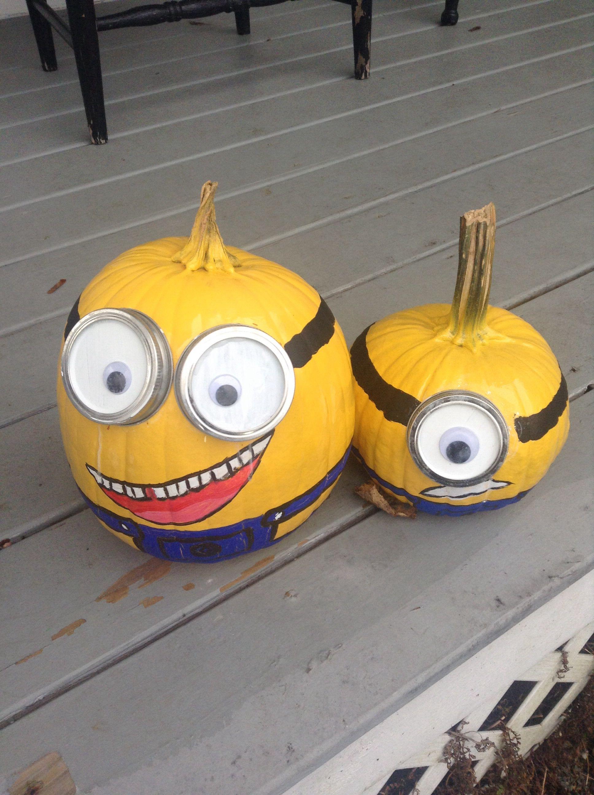 Decorated pumpkins