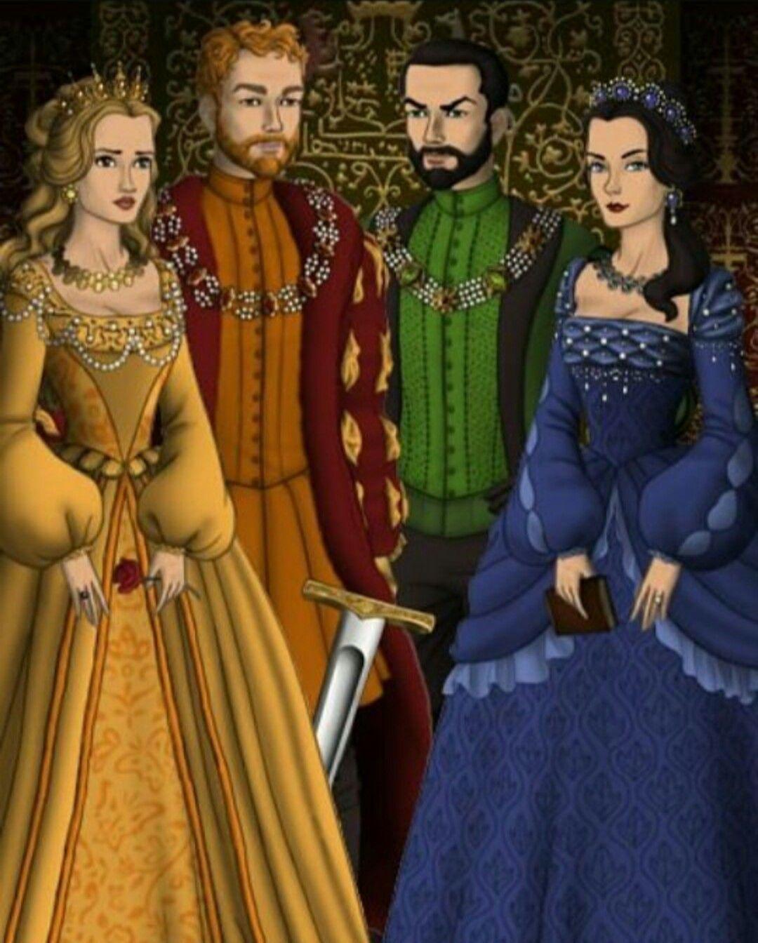Helga Hufflepuff, Godric Gryffindor, Salazar Slytherin and ...