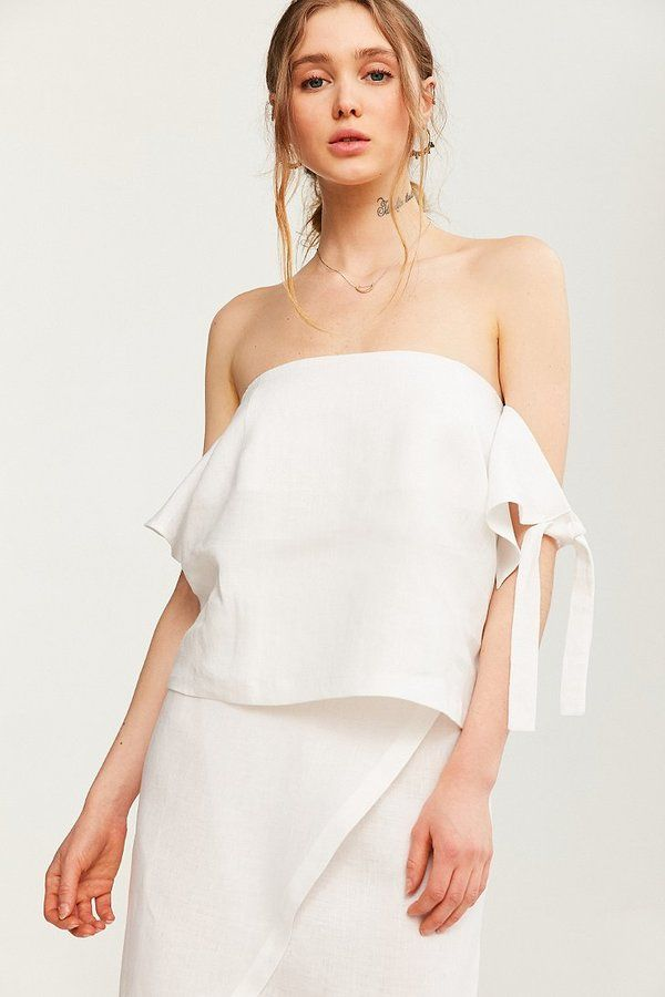 bb1045cca56 SIR The Label Bella Tie-Sleeve Off-The-Shoulder Top | Fashion Frenzy ...