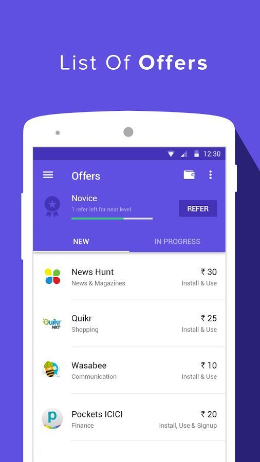 Grappr - Free Mobile Recharge Mobile app by Grappr | Mobile UI