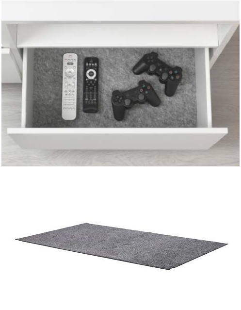 The KOMPLEMENT drawer liner protects your things and keeps them ...