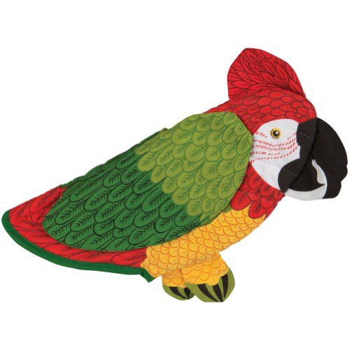 Animal World Red Parrot Oven Mitt Parrot Bird Crafts Funny