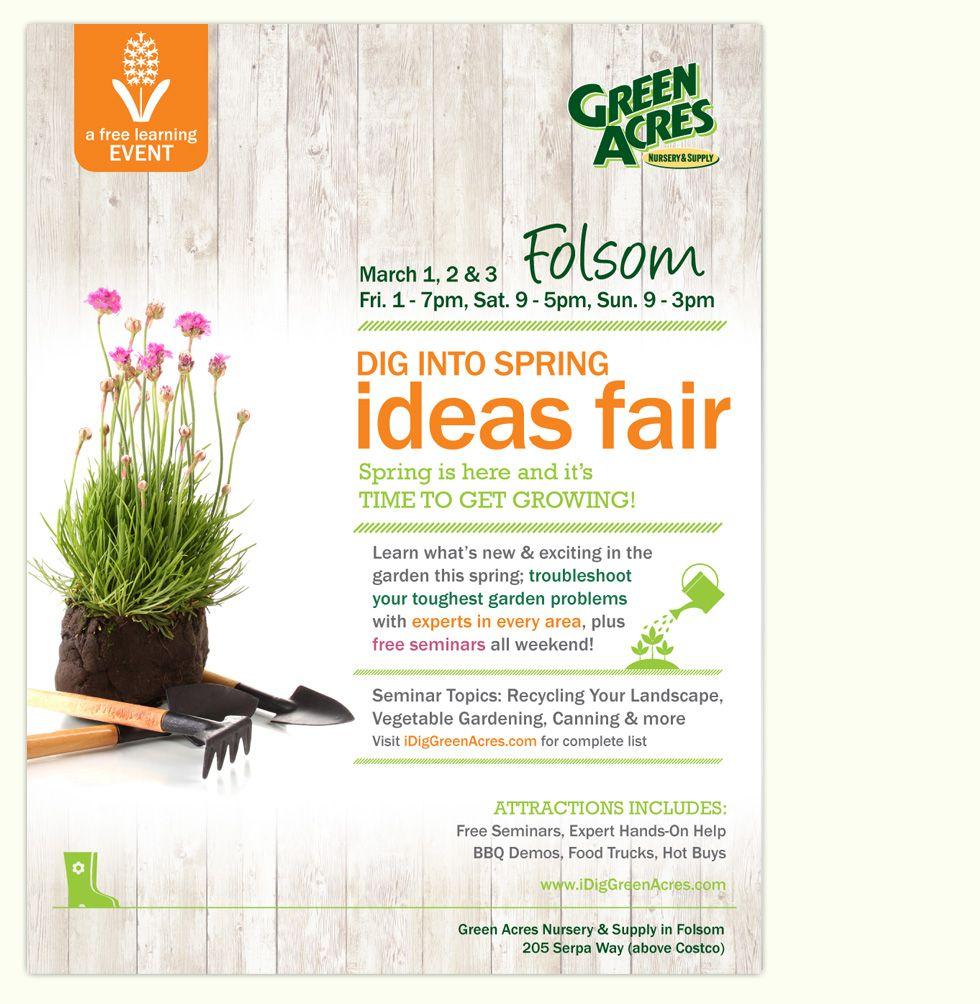 Green Acres Nursery Supply Folsom Ca Dig Into Spring Ideas Fair March 1 3