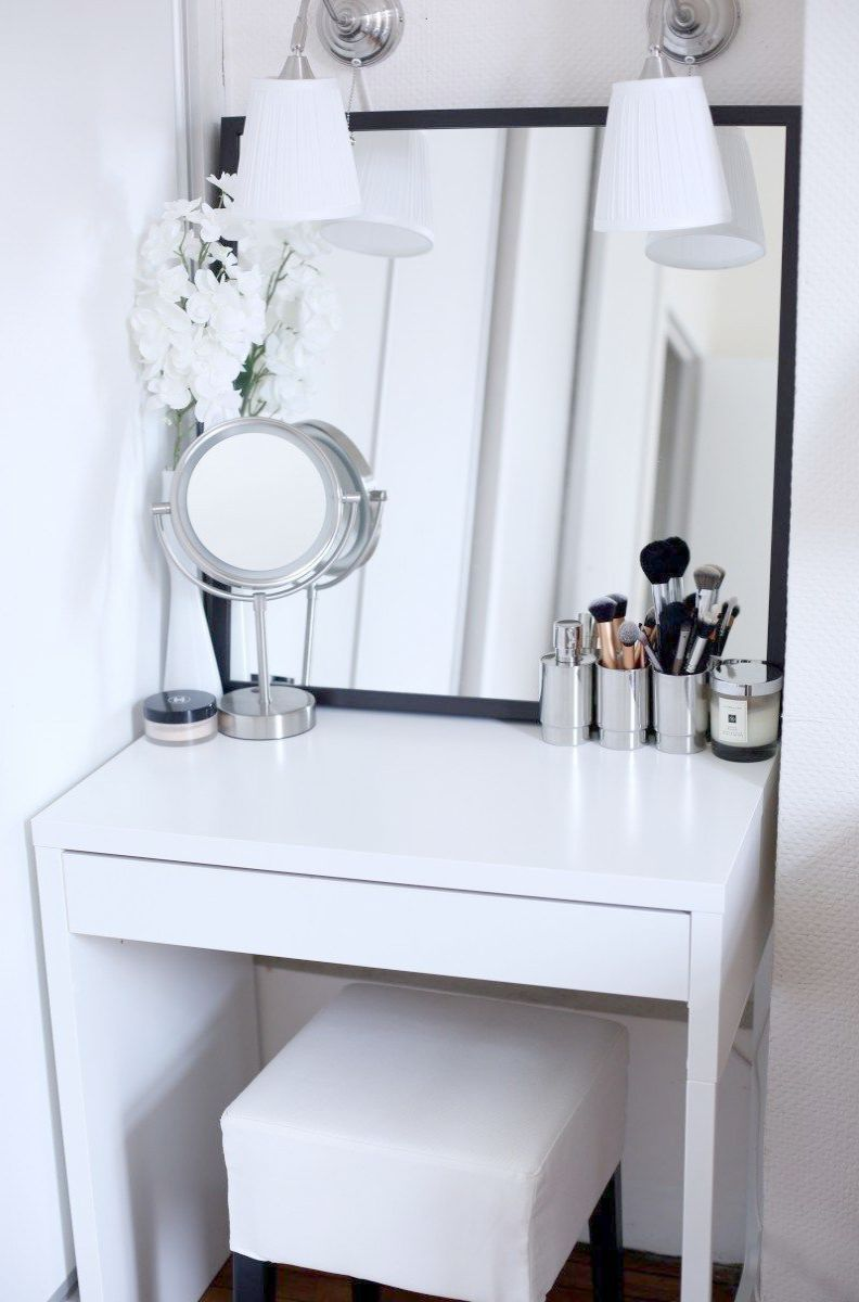 Makeup Vanity Out Of Pallets Of Makeup Vanity Goals Above Makeup Vanity Area Ideas Makeup Vani Makeup Table Vanity Dressing Table For Small Space Vanity Decor