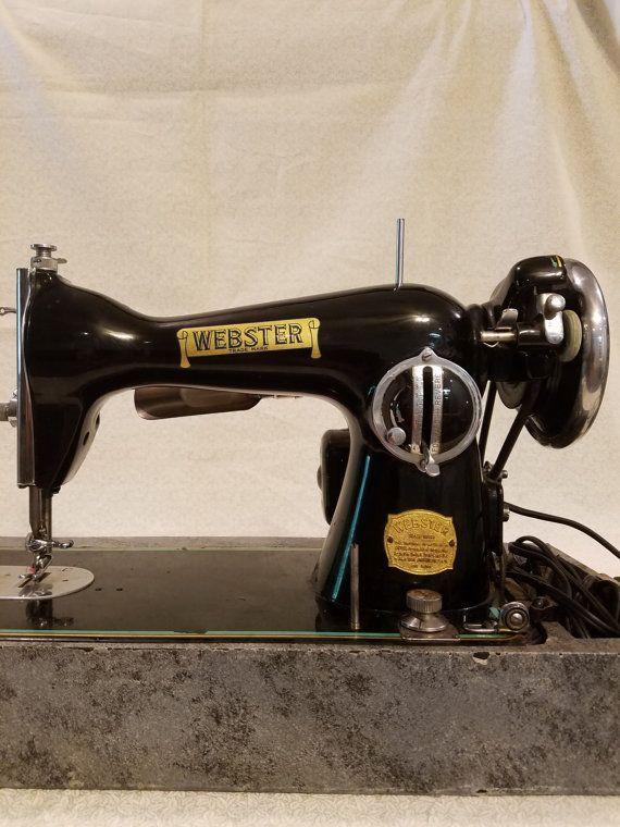 40s Webster Sewing Machine Antique Sewing Machines Pinterest Impressive Sewing Machine Repair Tucson