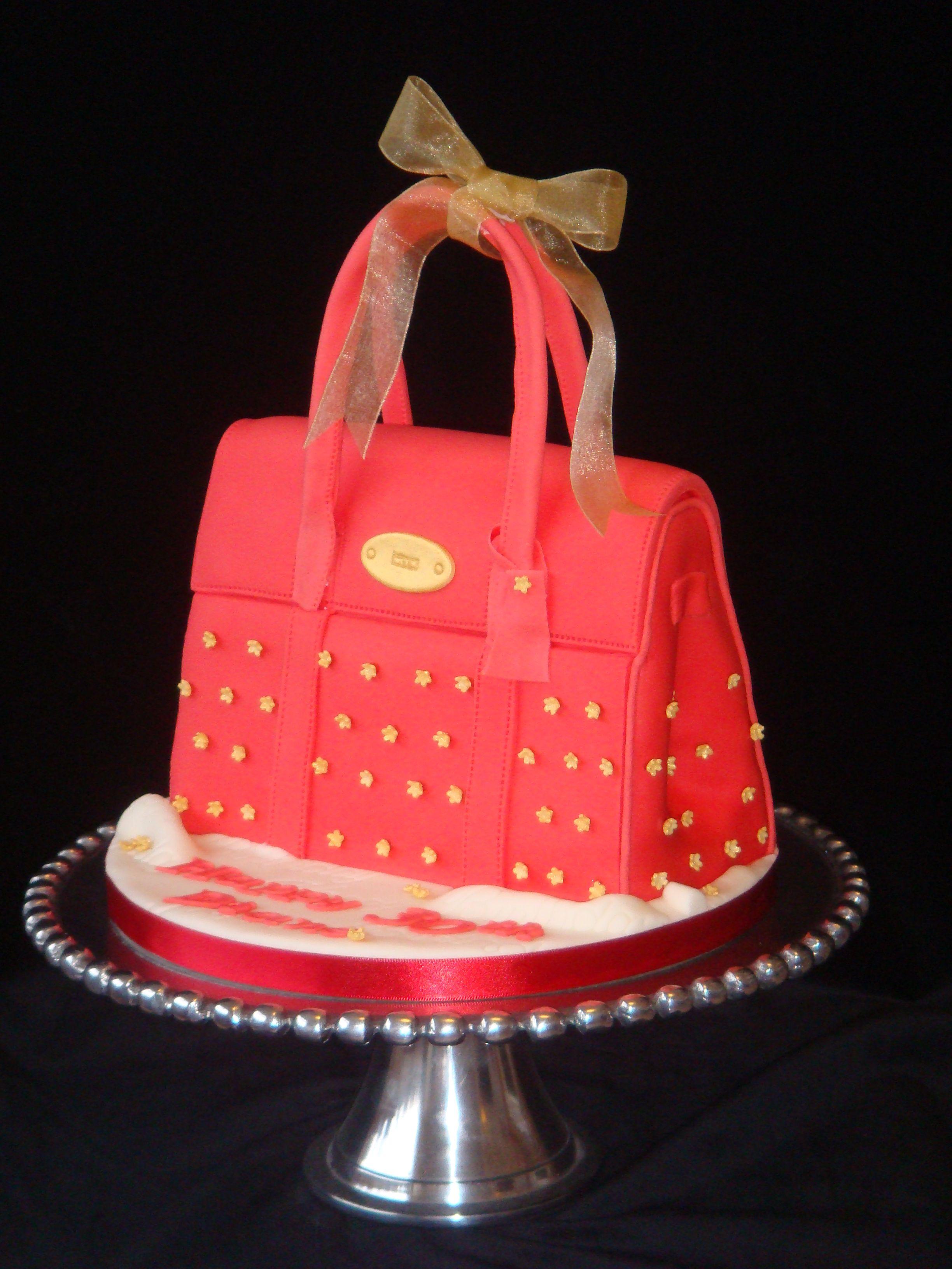 Red Handbag Birthday Cake Celebration Cakes From Broughty Cake