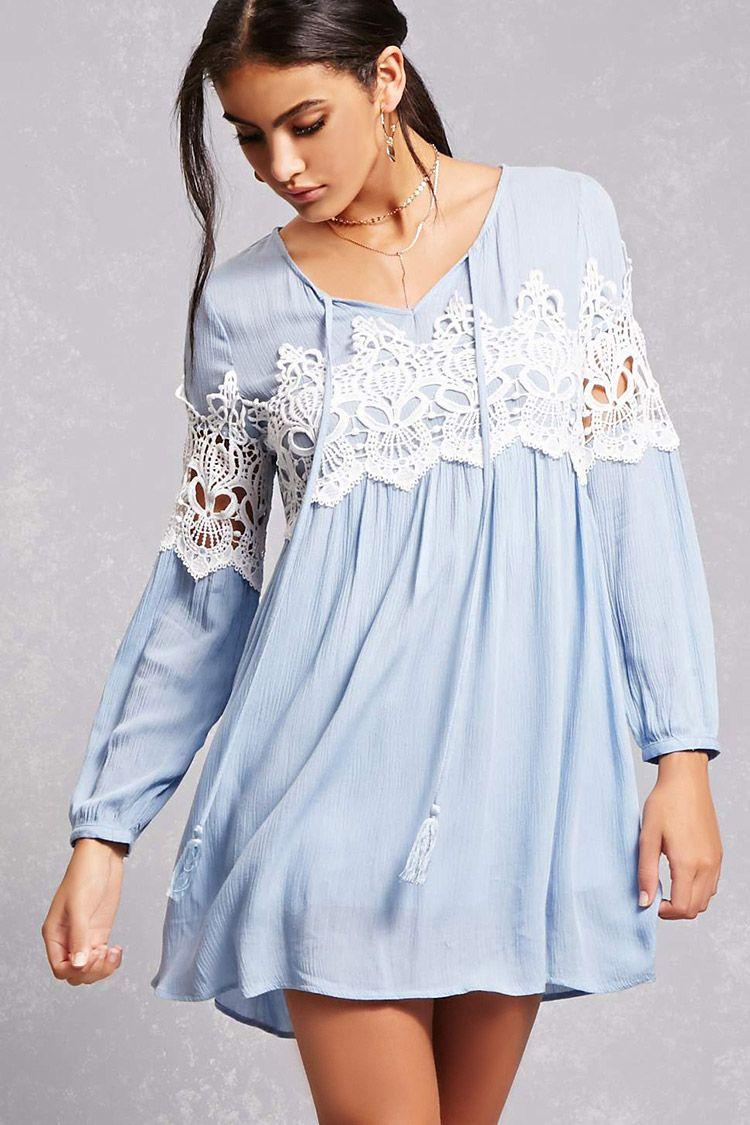 Tassels N Lace Crochet Dress Blusas Cenó En 2019 Blusas