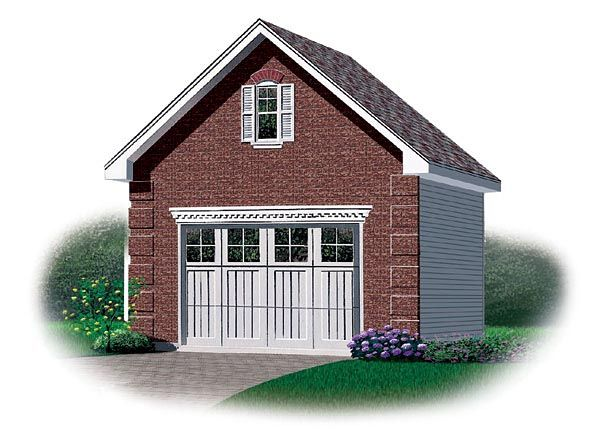 1 Car Garage Plan Number 65258 Building A Garage Garage Plans Garage Plans With Loft