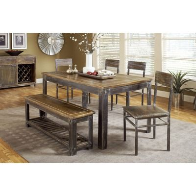Modus Farmhouse Distressed Dining Table