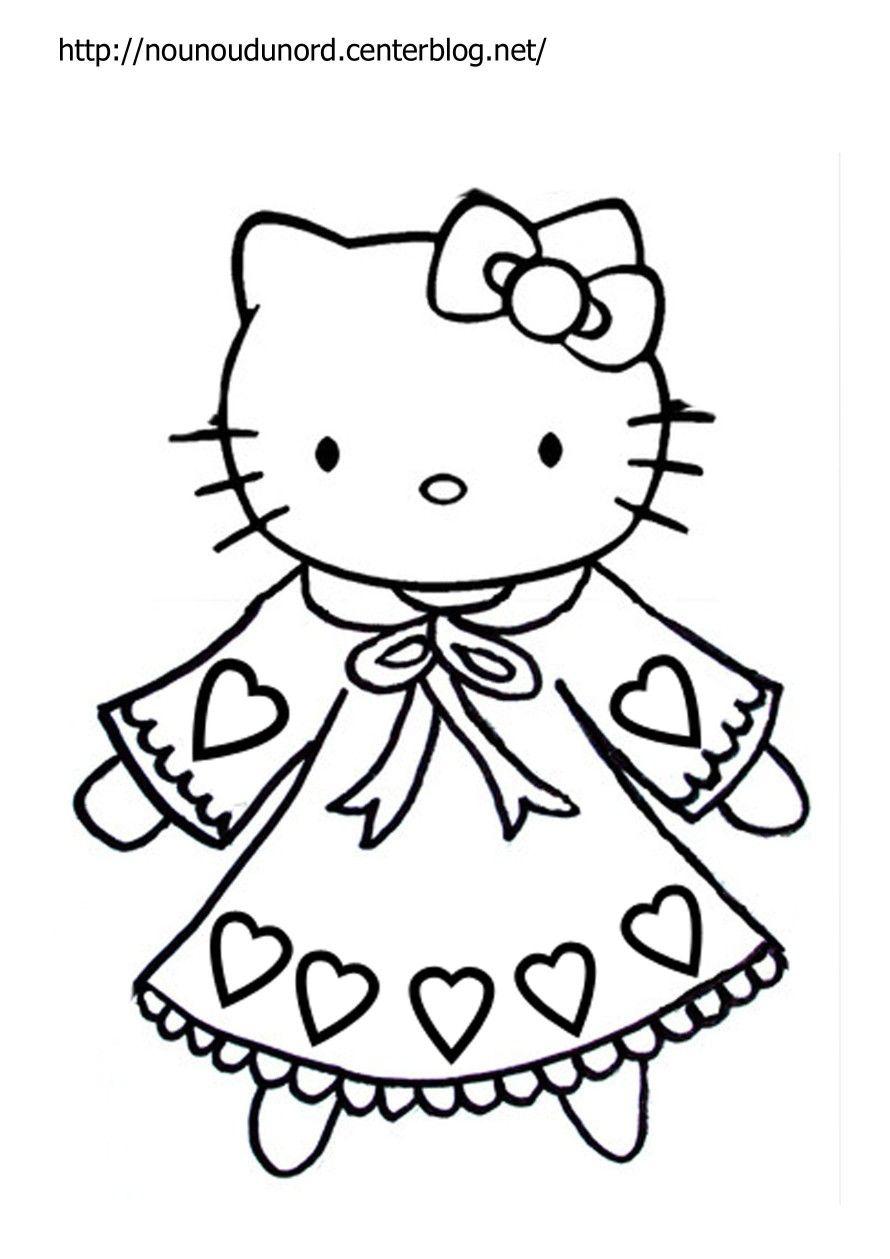 Epingle Par Anabel M Sur Sanrio Characters En 2020 Coloriage Hello Kitty Coloriage A Imprimer Coloriage