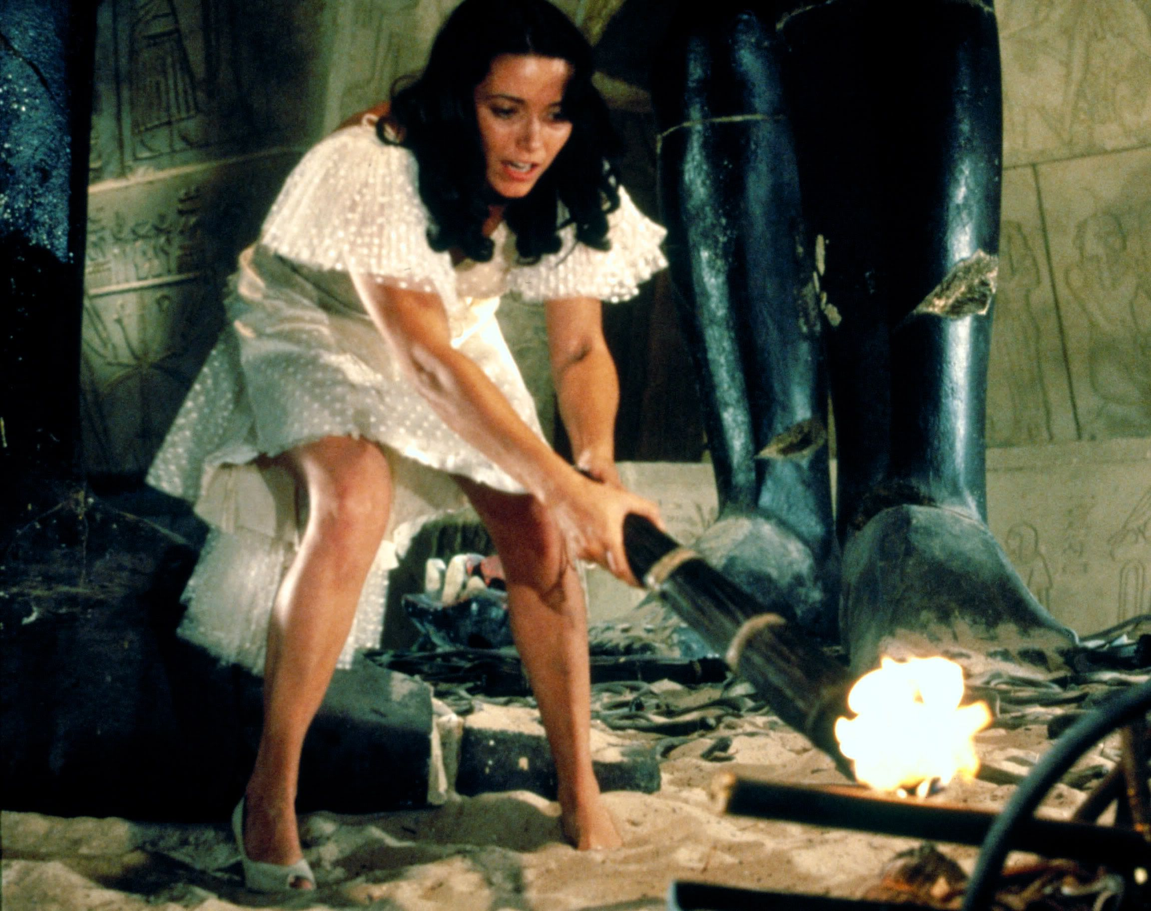 Image result for indiana jones marion with torch