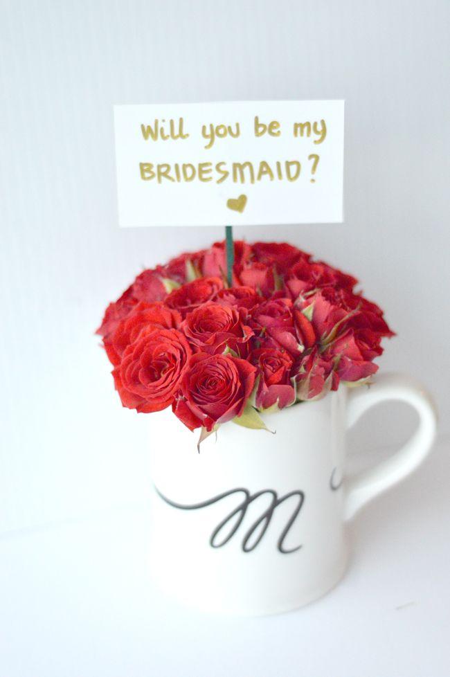 Diy do it yourself flower mug floral arrangement bridesmaid diy do it yourself flower mug floral arrangement bridesmaid proposal peppermint weddings solutioingenieria Images