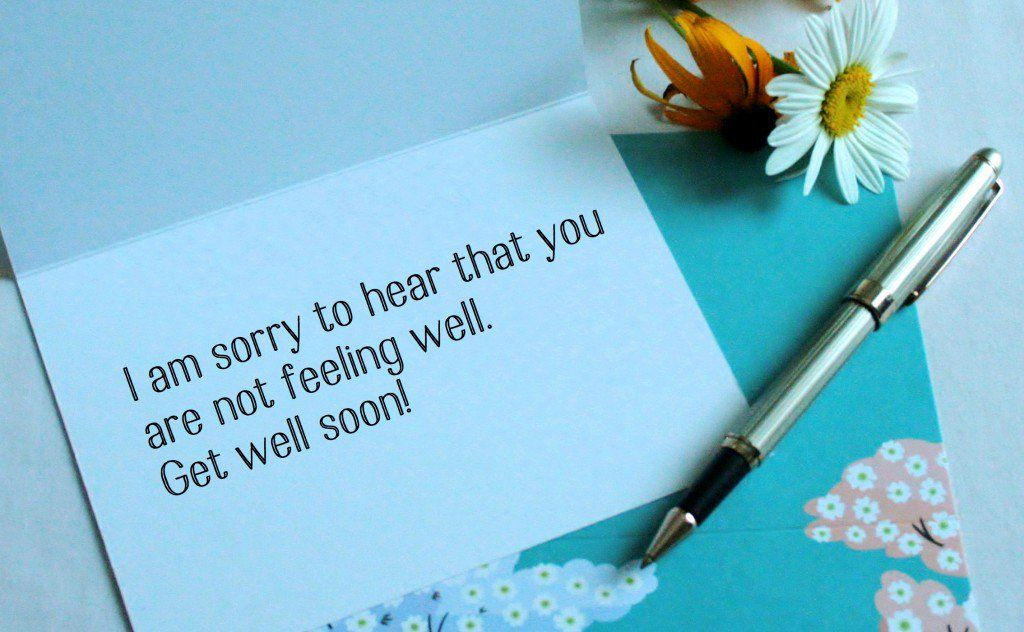 """Wishes and prayers to write in a religious """"get well soon"""" card."""