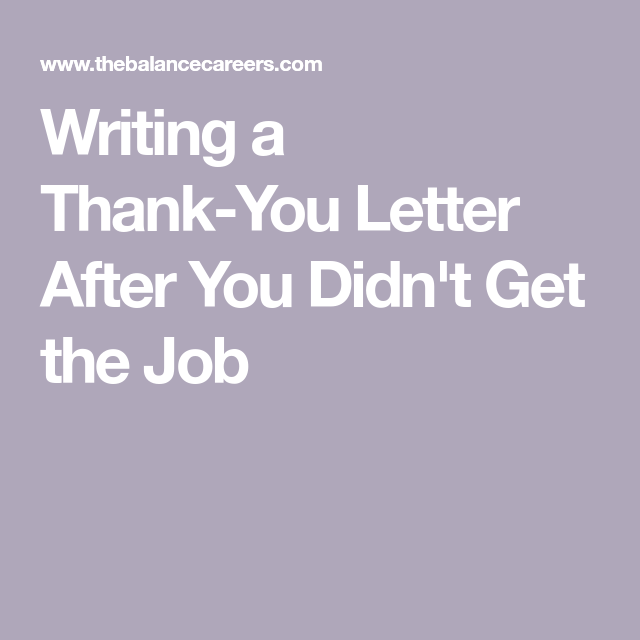 Writing a Thank You Letter After Y… | Career Focus: Job Letters