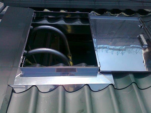 琉璃瓦型不鏽鋼天窗 天井蓋 鐵皮屋逃生孔 烤漆浪板維修孔 出入蓋 Yahoo