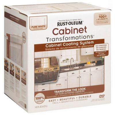 Rust Oleum Transformations 1 Qt Pure White Cabinet Small Kit