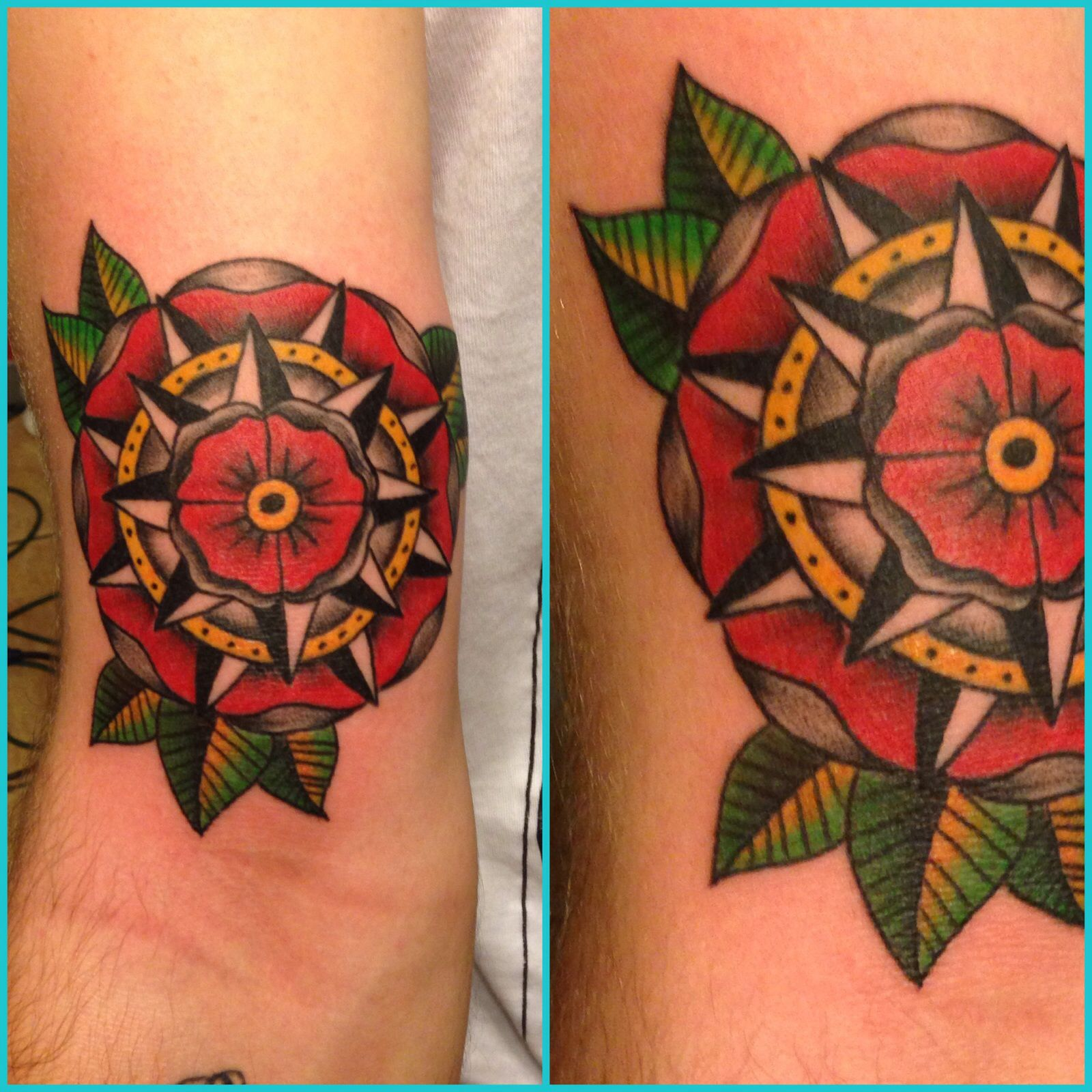 Traditional Flower Tattoos: Traditional Flower Tattoo By David J Wilson Of Ironclad