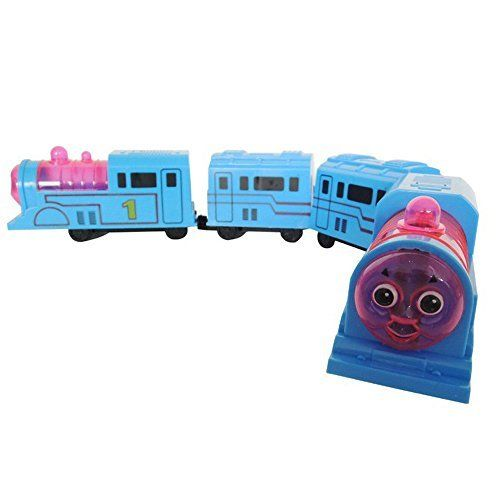 This Is Ideal For Toddlers Or Much Younger Kids The Train Features A Light Installed Inside The Transparent Plastic On The Toy Trains Set Train Sets Toy Train