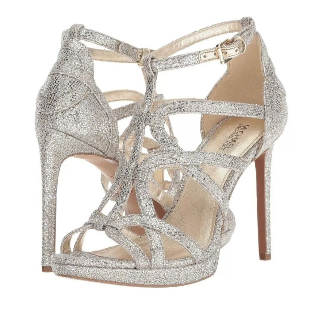 Michael Kors Silver Sparkly Strappy