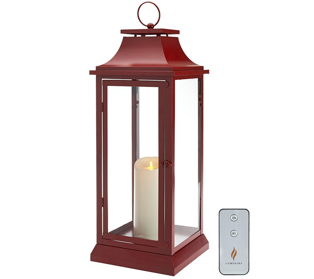 Luminara 25 Heritage Indoor Outdoor Lantern With Flameless Candle Remote With Images Outdoor Lanterns Battery Operated Lanterns Flameless Candle