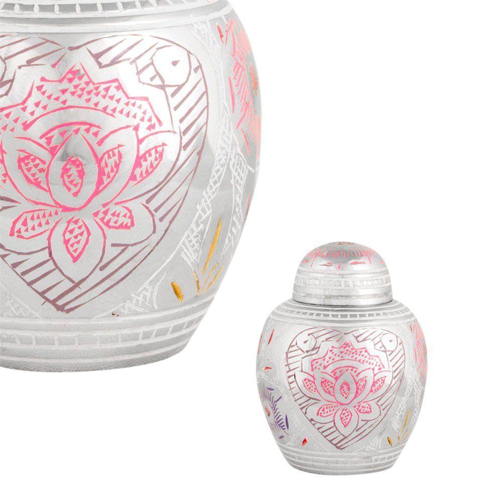 Near /& Dear Pet Memorials Elite Cloisonn/é Floral Blush Pet Cremation Urn Pink 50 Cubic Inch