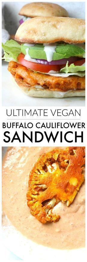 Photo of Ultimate Vegan Buffalo Cauliflower Sandwich – This Savory Vegan