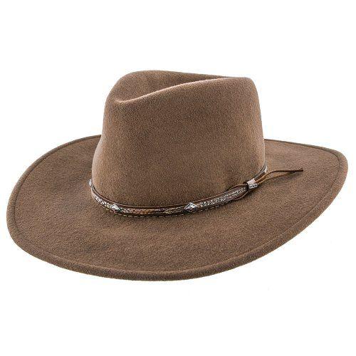 68d14e8b89518 Mountain Sky - Stetson Crushable Wool Felt Western Hat - SWMTSK in ...