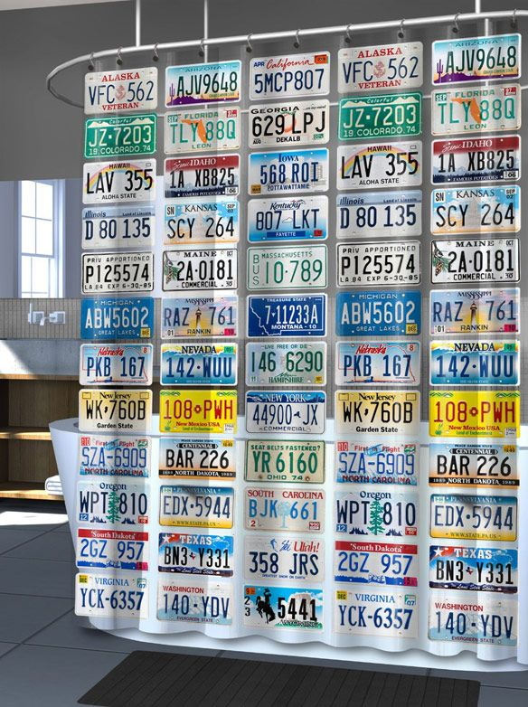 License Plate Shower Curtain I Must Have It