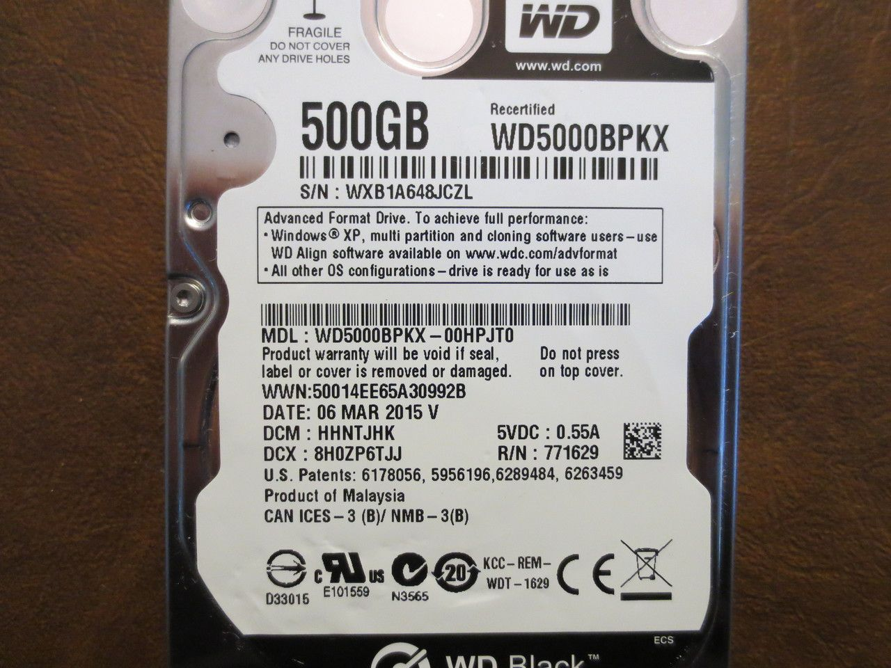Western Digital Wd5000bpkx 00hpjt0 Dcm Hhntjhk 500gb Sata Computer Repair Digital Data Recovery