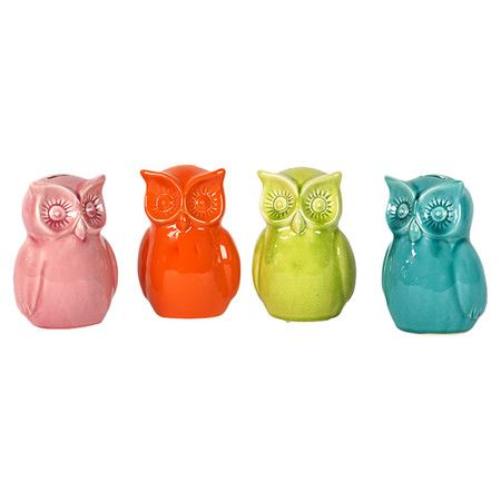 4 Piece Owl Set // fresh colour combo #designinspiration #designtrend