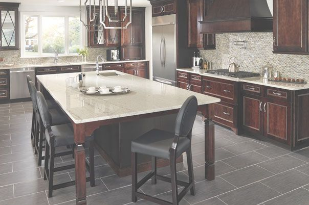 and ginger curved decorative ogee detail natural of front quartz countertops edge with pin sky