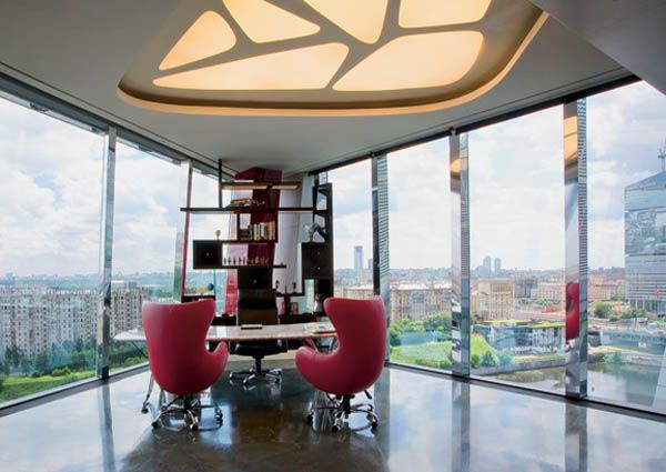 7 modern office interiors in different styles home office for Best modern office interior