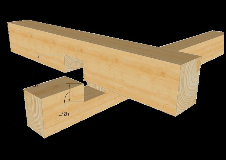 Zimmermannsm ige holzverbindung berblattung projekt for Holzverbindungen fachwerk