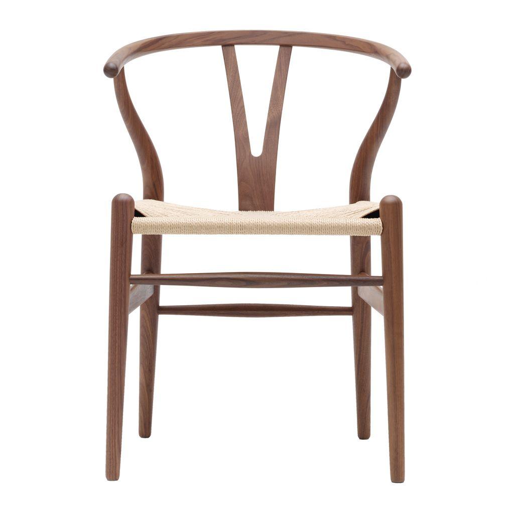 CH24 Wishbone Chair Walnut & Natural Paper Cord Seat