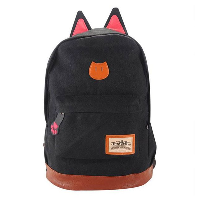 Special price Cute Cat Ear Cartoon Canvas Backpack For Women Girls Satchel Rucksack School Children Outdoors Traveling Backpack Fashion Bags just only $13.43 with free shipping worldwide  #womanbackpacks Plese click on picture to see our special price for you