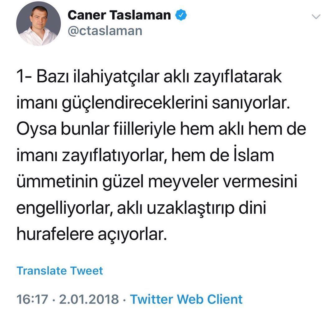 Caner Taslaman In Instagram Gönderisi 26 Ağu 2019 7 18öö Utc Iman