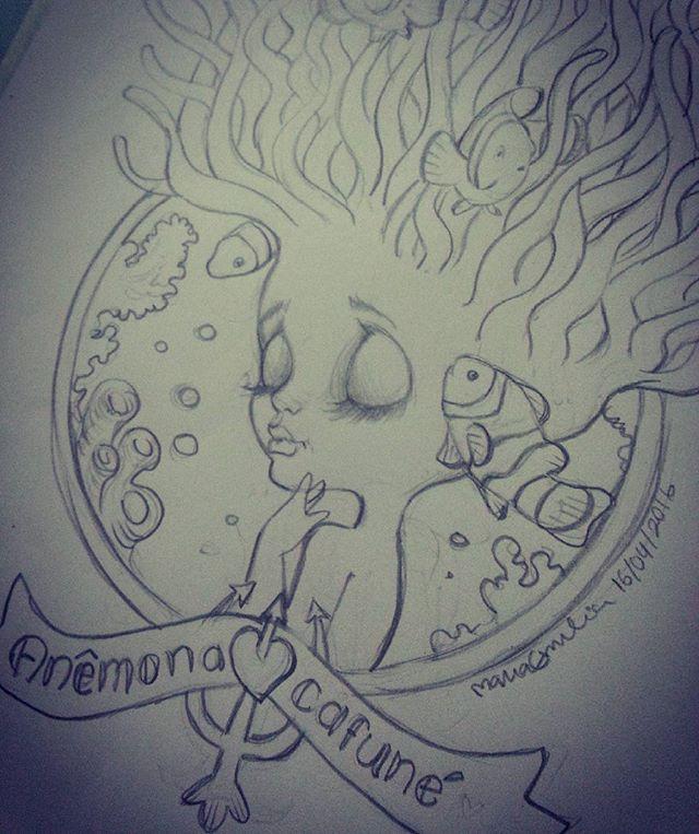 Projeto Ilustra - Blythe doll Anêmona. Sketck